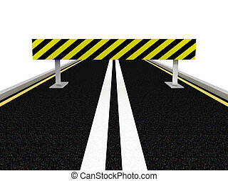estrada, sob, construction., 3d, imagem