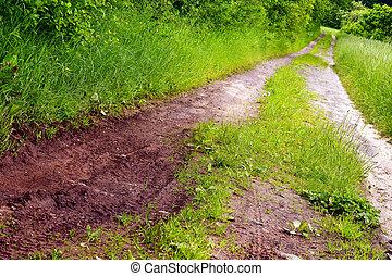 estrada sujeira