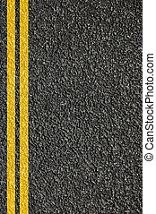 estrada, textura, com, linhas