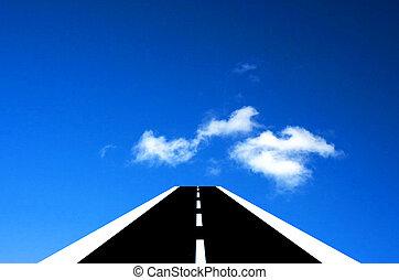 estradas, céu