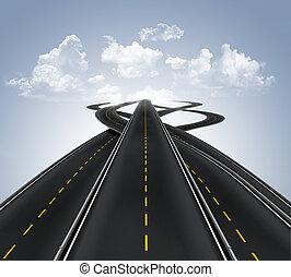 estradas, muitos