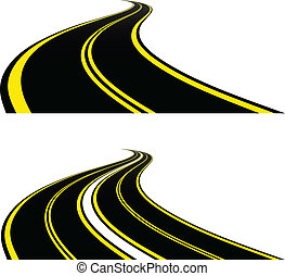 estradas, vetorial