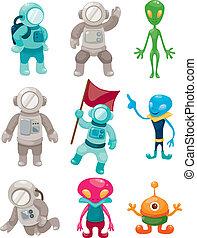 estrangeiro, astronauta, ícones