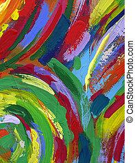 estrarre dipingere, struttura, fondo