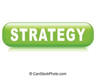 estratégia, botão, branco, fundo