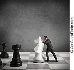 estratégia, e, táticas, em, negócio