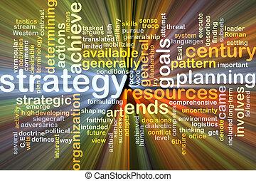 estratégia, fundo, conceito, glowing