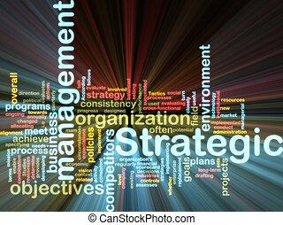 estratégico, gerência, wordcloud, glowing