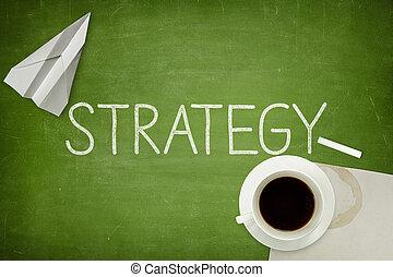 estrategia, concepto, en, pizarra