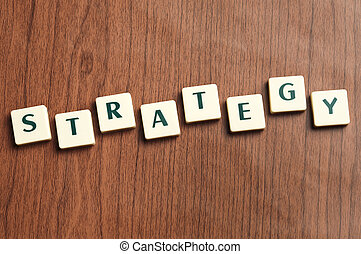 estrategia, hecho, palabra, carta, pedazos