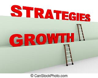 estrategias, crecimiento, 3d