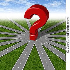 estrategias, símbolo, preguntas