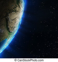 estratosfera, topografía, asia