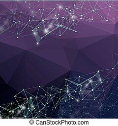 Estratto,  poly,  polygonal, Connettere, basso, disegno,  backgroun