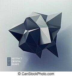 Estratto, spazio,  poly, triangoli, basso