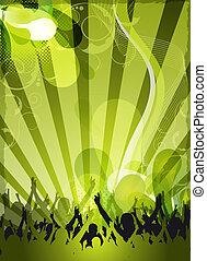 estratto verde, disegno, evento
