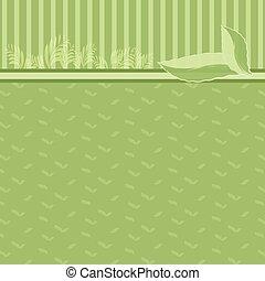 estratto verde, fondo, eco, concetto, illustration.