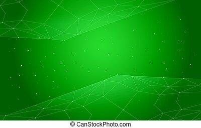 estratto verde, fondo, stile, collezione