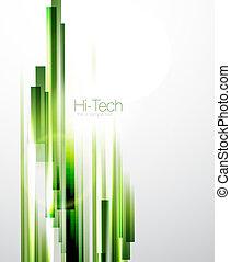 estratto verde, linee, fondo