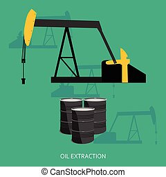 estrazione, concetto, olio