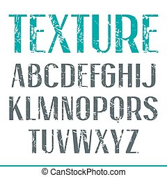 estrecho, sin, textura, serif, fuente, andrajoso