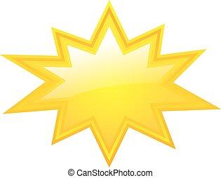 estrela, amarela, estourar