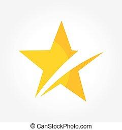 estrela amarela, símbolo