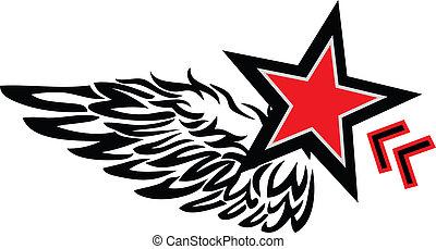 estrela, asa, logotipo