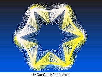 estrela azul, borda