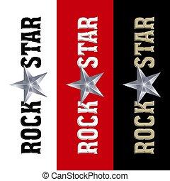 estrela, bandeira, rocha