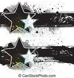 estrela, bandeiras