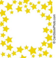 estrela, borda, ouro, ganhar