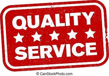 estrela, borracha, grungy, impressão, vermelho, cinco, serviço, selo, qualidade