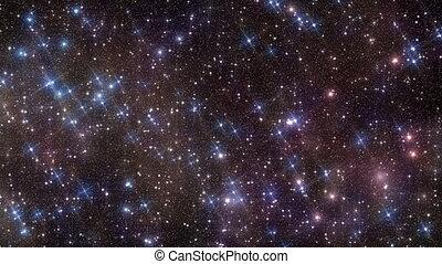estrela brilhante, campo, projete elemento