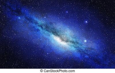 estrela, cacho, e, plasma, em, espaço exterior