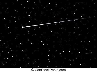 estrela cadente, fundo