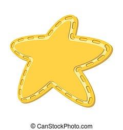 estrela, caricatura, ícone