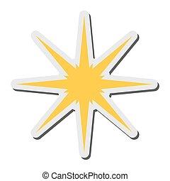 estrela, cintilante, ícone