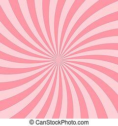 estrela cor-de-rosa, backdrop., vindima, starburst, experiência., retro, raio