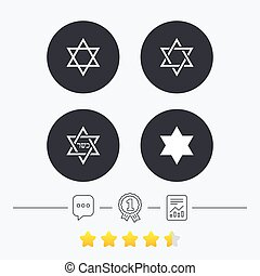estrela david, icons., símbolo, de, israel.