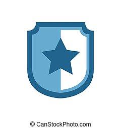 estrela, escudo, wankel, côncavo, lado