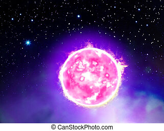 estrela, espaço ilustração
