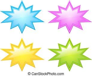 estrela, estourar, ícone