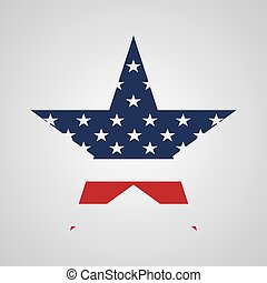 estrela, eua, sinal, bandeira, vetorial, colors.
