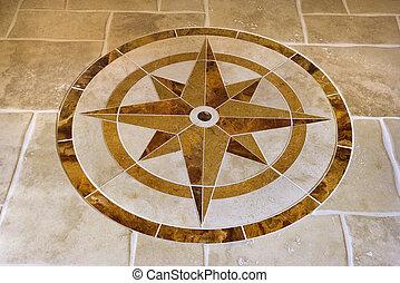 estrela, forma., chão