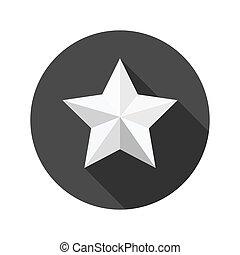 estrela, icon., vetorial, illustration.