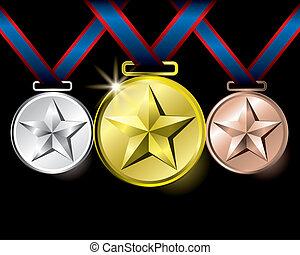 estrela, medalhas