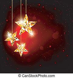 estrela, natal, fundo, polígono