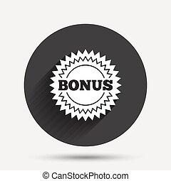 estrela, oferta, bônus, símbolo, sinal, icon., especiais