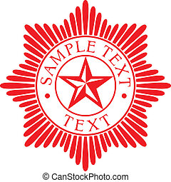 estrela, ordem, (police, badge)